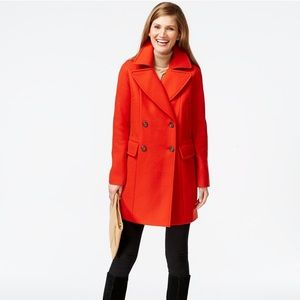 Vince Camuto Wool Double Breasted Peacoat